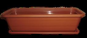"""Балконный ящик для цветов+подставка V=7л(d=50см,h=14,7см) терракот """"Алеана"""""""