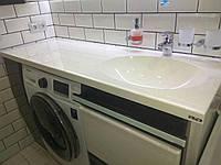 Умывальник со столешницей над стиральной машиной (изготовление на заказ по вашим размерам)