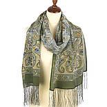 Рассказ о странствиях 1633-60, павлопосадский шарф шелковый крепдешиновый с шелковой бахромой, фото 2