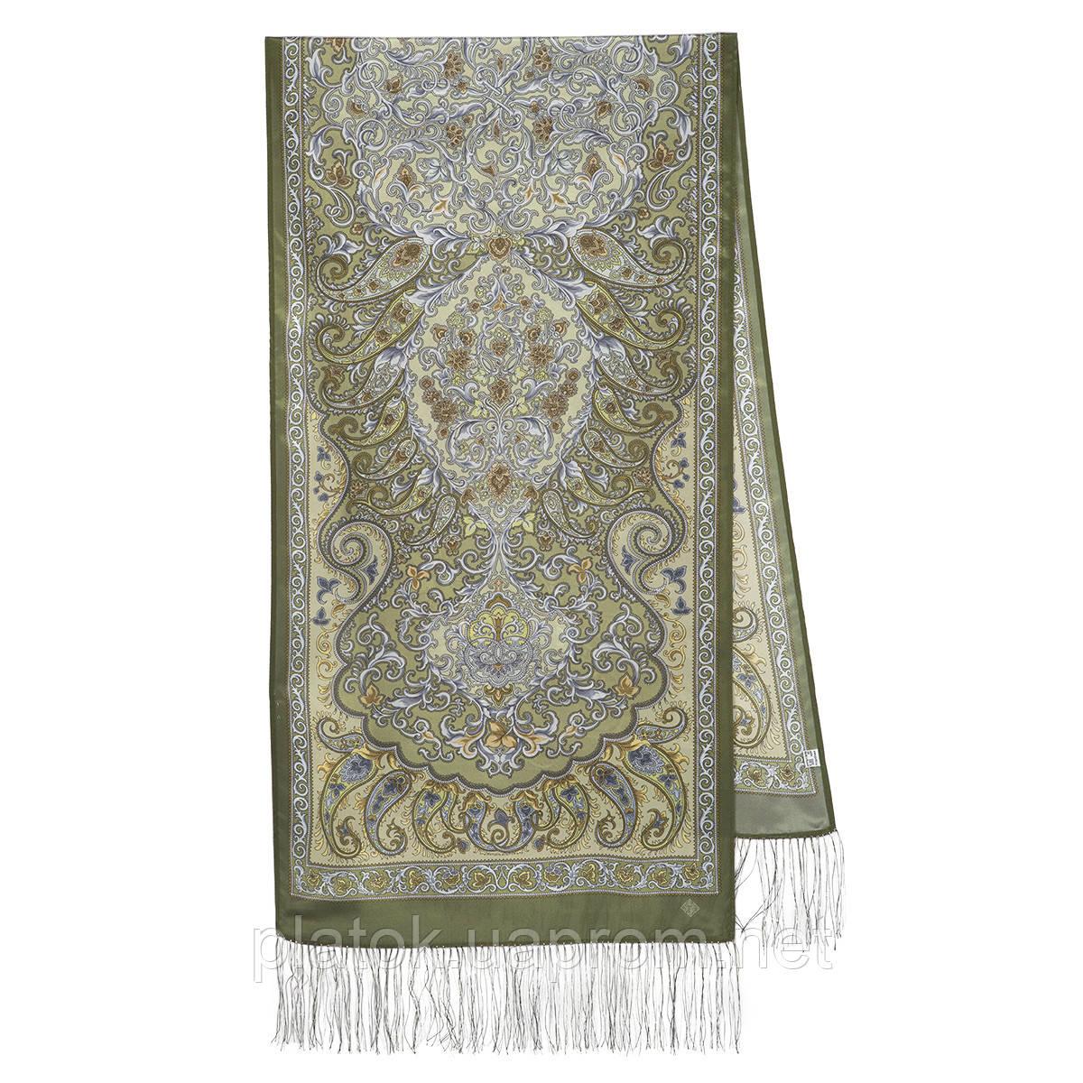 Рассказ о странствиях 1633-60, павлопосадский шарф шелковый крепдешиновый с шелковой бахромой