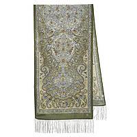 Рассказ о странствиях 1633-60, павлопосадский шарф шелковый крепдешиновый с шелковой бахромой, фото 1