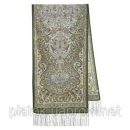 Розповідь про мандри 1633-60, павлопосадский шовковий шарф крепдешиновый з шовковою бахромою