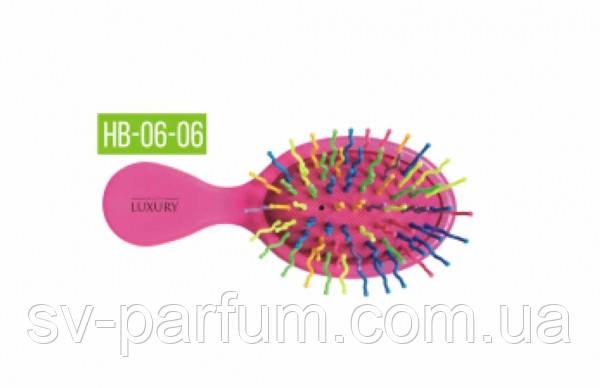 HB-06-06 Щетка для волос цветная LUXURY