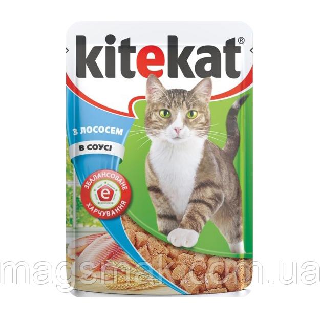 Влажный корм для кошек Kitekat (лосось в соусе) х24