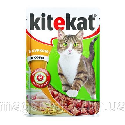 Влажный корм для кошек Kitekat (курица в соусе) х24, фото 2