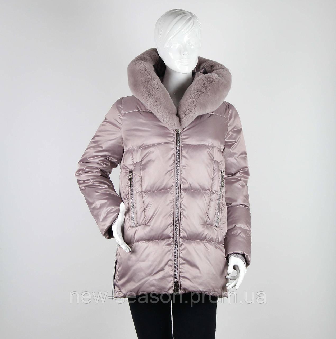 Куртка Batterflei 1932 с мехом бобрика пудра