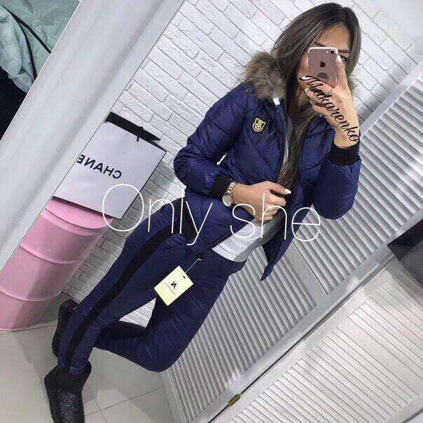 Женский теплый лыжный костюм с капюшоном (7 рвсцветок) 42-48р.