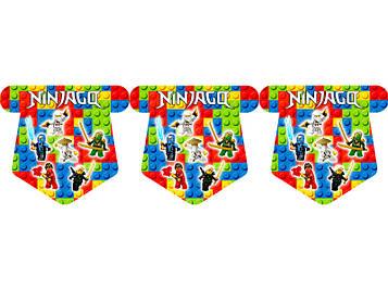 """""""Лего Ниндзяго: Белый"""" - Вымпел Флажки, 12 шт. флажков"""