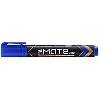 Маркер перманентный синий 1,5мм пулевидный с возможностью дозаправки