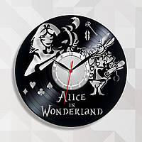Алиса в Стране чудес Часы виниловые Часы для девочек Часы в детскую комнату Круглые детские часики Декор холла