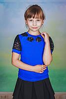 Блузка для девочки электрик