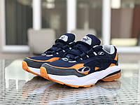 Мужские кроссовки в стиле 8413 Puma Cell Venom сині з помаранчевим