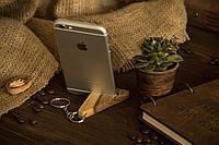 Деревянный портативный аксессуар из дерева ореха, Компактная подставка с гравировкой для смартфона планшета