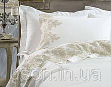 Комплект постельного белья сатин люкс Pepper home евро размер BELARIS NT Gold