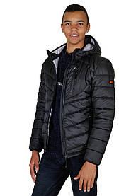 Куртка мужская демисезонная с капюшоном Arctic черная
