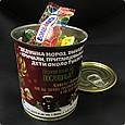 Консервированный сюрприз подарок от Деда Мороза - Новогодние Конфеты, фото 4