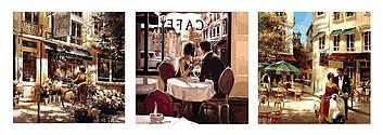 Картина по номерам 50х150 см. Триптих Babylon Летняя романтика (VPT-001)