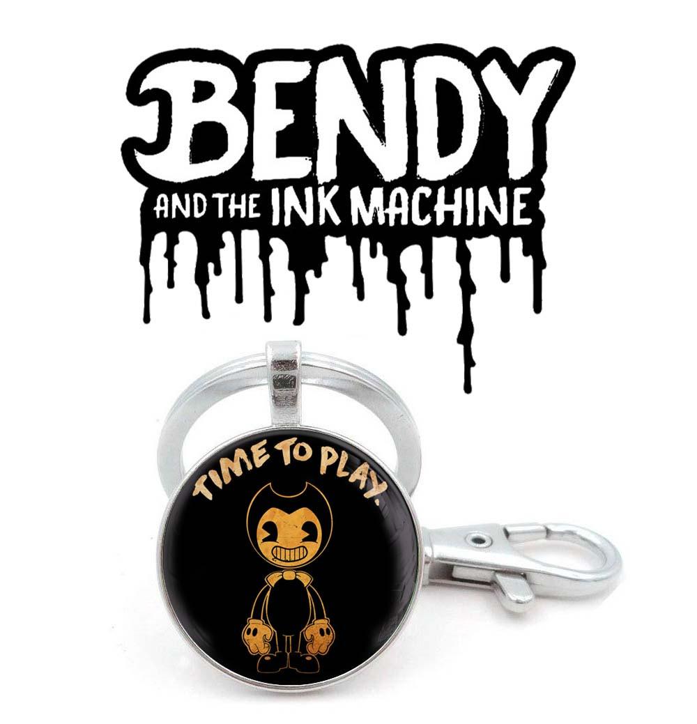 Брелок time to play Бенди и Чернильная Машина / Bendy and the Ink Machine