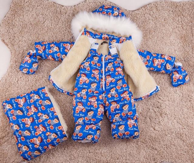 Комбинезон на овчине для новорожденного мальчика картинка