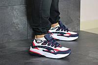 Мужские кроссовки в стиле 8415 Puma Cell Venom сині з білим\червоні
