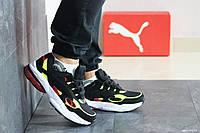 Мужские кроссовки в стиле 8416 Puma Cell Venom чорно білі\салатові