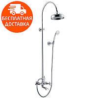 Душевая система для ванны с изливом Imprese Cuthna T-10280 STRIBRO хром