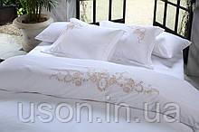 Комплект постельного белья сатин люкс Pepper home евро размер Daisy pembe