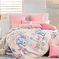 Постельный комплект ПОЛУТОРНЫЙ Viluta 100% хлопок, набор постельного белья полуторка, комплект постельного