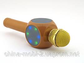 Karaoke Wster WS-1816 беспроводной караоке микрофон, золотой, фото 2