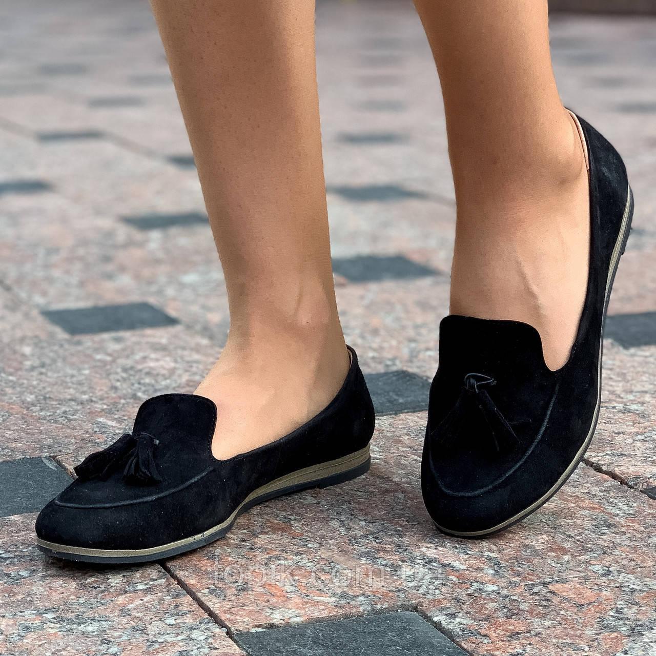 Туфли, мокасины женские кожаные (Код: 1555a)