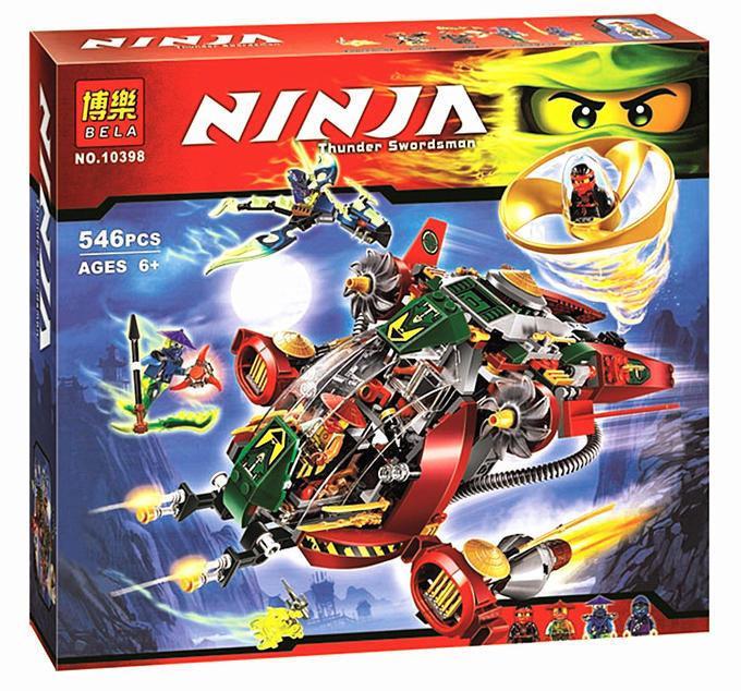 """Конструктор Bela Ninja 10398 """"Ронин Рекс"""" 546 деталей. AналогLego Ninjago 70735"""
