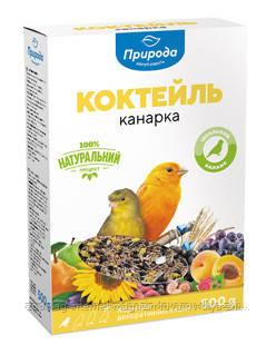 Корм «Коктейль Канарейка» для канареек и декоративных птиц Природа™, 500г