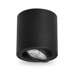 Накладной поворотный светильник цилиндр Feron ML302 под лампу MR16 GU10 черный 80*90мм
