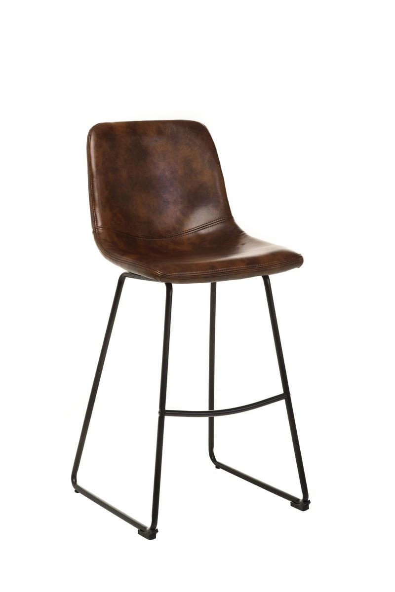Барный стул В-13 коричневый антик Vetro Mebel, экокожа