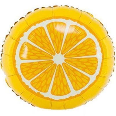 """Фольгована кулька коло апельсин 18"""" Китай"""