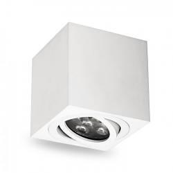 Накладной поворотный светильник квадрат Feron ML303 под лампу MR16 GU10 белый 80*80*90мм