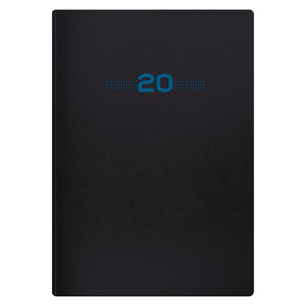Ежедневник датированный BRUNNEN 2020 Стандарт Flex Neo черный с голубым