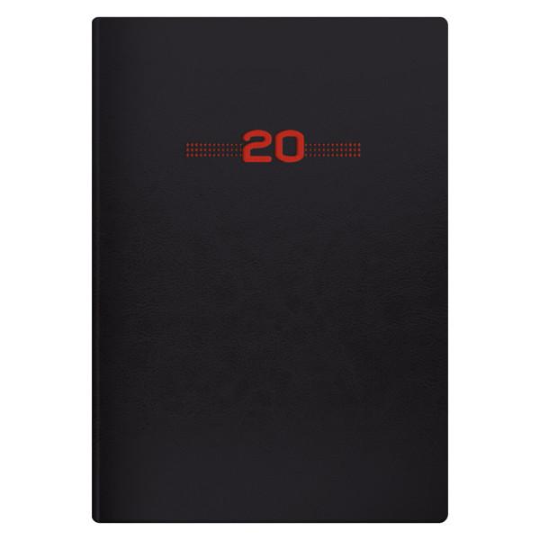Ежедневник датированный BRUNNEN 2020 Стандарт Flex Neo черный с красным