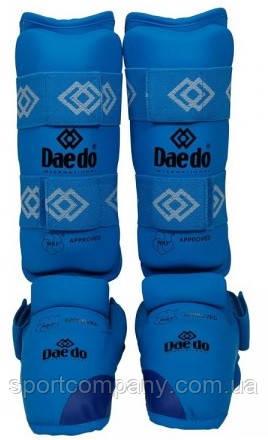Защита голени и стопы Daedo для каратэ BO-5074-B, синяя