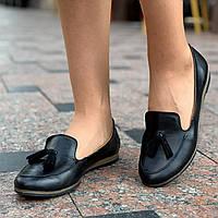 Туфли, мокасины женские кожаные (Код: 1556a)