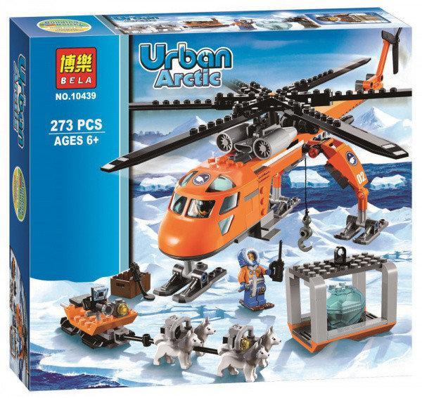 """Конструктор Bela 10439 """"Арктический вертолёт""""273 детали. Аналог Lego City 60034"""