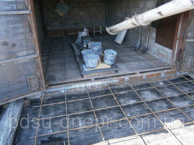 Бетонный пол в Днепропетровске в гараже