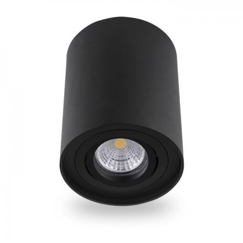 Накладной поворотный светильник цилиндр Feron ML304 под лампу MR16 GU10 черный 96*125мм