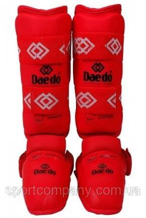 Защита голени и стопы Daedo для каратэ BO-5074-B, красная