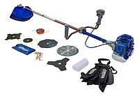 Мотокоса бензиновая Витязь БГ-4500 Профи (5 ножей + леска + очки)