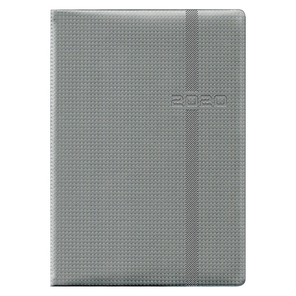 Ежедневник датированный BRUNNEN 2020 Стандарт Soft Carbon серый