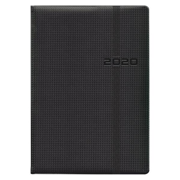 Ежедневник датированный BRUNNEN 2020 Стандарт Soft Carbon черный