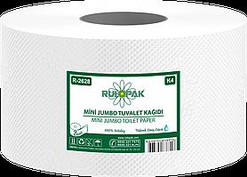 Туалетний папір Джамбо, двошарова целюлоза. Діаметр 21,5 см Довжина 100 м.