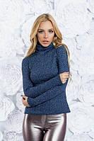 Теплый ангоровый свитер под горло
