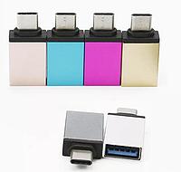 Переходник TYPE-C->OTG (USB 3.0) для подключения флешки к телефону отг, фото 1
